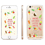 Three-Color Ice Cream  Pattern Transparent TPU Material Phone Case for iPhone 6/ 6S