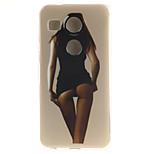 Sexy Figure Pattern TPU Material Phone Case for LG Nexus 5X