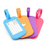 BirdRoom® Silicone Luggage Tag Anti Lost Travel Airport Identification Card(Assorted Color)
