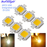 YouOKLight® 6PCS DIY 10W 820-900LM 900mA Warm White Light / Cool White Light Integrated LED Module (DC 9-12V)