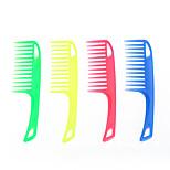 dentes grossos grandes pentear o cabelo pente de cabeleireiro ferramenta fontes atacado pente de plástico (cor aleatória)