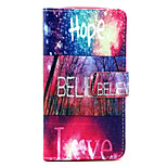 Hope love Pattern PU Leather Stand Card Slot Case for LG Bello D337