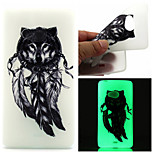 Wolf Feathers Pattern TPU Luminous Phone Case For Nokia Lumia 540