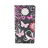Black Butterfly Pattern Flip Leather Case For iPhone 5/5S Cover Bags