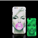 Marilyn Monroe Pattern Glow in the Dark Hard Plastic Back Cover for iPhone 6 for iPhone 6s Case