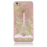 Cloud Tower Pattern PC Material Stereoscopic Love Quicksand Phone Case for iPhone 6 / 6S