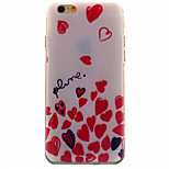 Heart Pattern TPU Soft Phone Case for iPhone 6/6 S