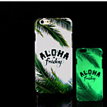 alberi modello bagliore sulla cover posteriore in plastica dura scuro per iphone 6 per caso 6s iphone