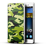 Camouflage Military Soldier 3D Printing Carving Hard Back Case Ultrathin Metal Bumper for Huawei P8 Case