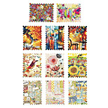 1pcs Scenery Stamps Nail Water Transfer Stickers