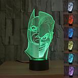 visuelle 3d zwei Gesicht Stimmungsatmosphäre LED Dekoration usb Tischlampe bunte Geschenknachtlicht