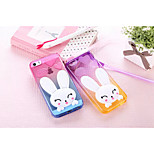 Gradient Scaffold with Hang Rope the Little White Rabbit Style for iPhone 5/5S (Assorted Colors)