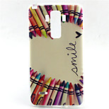 Color Pencil Pattern TPU Soft Case for LG G4 Stylus