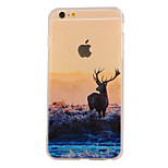 The New Elk Landscape Pattern Translucent TPU Material Combo Phone Case for iPhone 6/ 6S