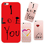 MAYCARI®Romantic Love Soft Transparent TPU Back Case for iPhone 6/iphone 6S(Assorted Colos)