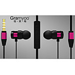 Intelligent High Quality 3.5mm Noise-Cancelling Mike Volume Control In Ear Earphone for iPhone(Assorted Colors)