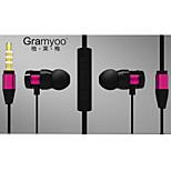 cancelación de ruido de 3,5 mm de alta calidad inteligente de control de volumen del micrófono en el auricular del oído para el iphone