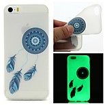 Blue Bells Luminous Dream Catcher Pattern Sofe TPU Case for iPhone 5/5S