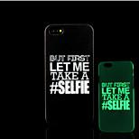motto frase modello bagliore sulla cover posteriore in plastica dura scuro per iphone 5 per caso iphone 5s