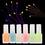 Nagellack UV Gel 20ml 6pcs Transparent Tränken weg von Long Lasting