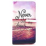 Never stop dreaming Pattern PU Leather Stand Card Slot Case for LG Bello D337