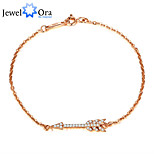Fashion 925 Sterling Silver Arrow Rose Gold Plated Jewelry Bracelets & Bangles For Women