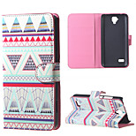 Triangles Pattern  Magnetic PU Leather wallet Flip Stand Cover Case For Huawei Ascend Y5/y560