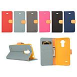Yi Cai Gyrosigma PU cuir carte ceinture de cuir de support autour ouverte pour lg stylet G4 (couleurs assorties)