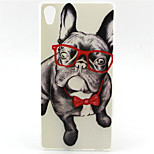 Glasses Dog Pattern TPU Soft Case for Sony Xperia Z5 Premium