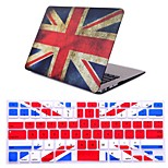 2 in 1  Retro Flag Full Hard Plastic Cover +Keyboard Cover for MacBook Air 11