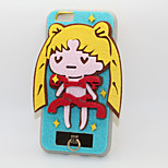 The Sailor Moon PC With A Fluffy Back Case For Iphone 6/6S