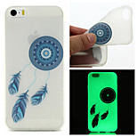 Blue Dreamcatcher  Pattern TPU  Luminous Phone Case For  iPhone 6 /6S