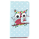 Owl Pattern PU Leather Stand Card Slot Case for LG Bello D337