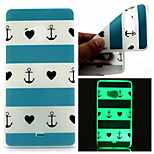 Blue Stripe Heart Pattern TPU Luminous Phone Case For Nokia Lumia 540