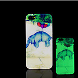 Elephant Pattern Glow in the Dark Hard Plastic Back Cover for iPhone 5 for iPhone 5s Case