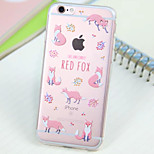Fox  Pattern Transparent TPU Material Phone Case for iPhone 6/ 6S