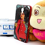 2-in-1 Fashion Girl TPU Back Cover with PC Bumper Shockproof Soft Case for Xiao Mi 4 MI4