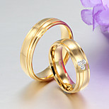 Band Rings Stainless Steel 18K gold Steel Fashion Screen Color Jewelry Party 1pc