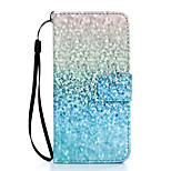 Green Sand Pattern PU Leather Full Body Case with Stand for iPhone 6S