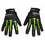 Glove Cycling / Bike Women's / Men's Full-finger GlovesKeep Warm / Wearproof / Breathable Spring / Winter Black M -