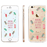 Popsicles  Pattern Transparent TPU Material Phone Case for iPhone 6/ 6S
