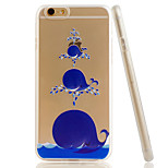 Whale Embossment Dull Polish Side + Transparent TPU Soft Phone Case for iPhone 5/5S