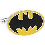 Batman logo oval cufflinks French shirt cuff nail