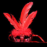 #Carnival Acc# 18*25cm Feather Chicken Crown Mask