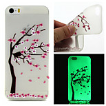 Peach Tree  Pattern TPU  Luminous Phone Case For  iPhone 6 /6S