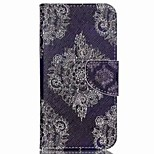 Lace Flower Painted PU Phone Case for Wiko Rainbow Jam 4G