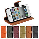 Matte Wallet Luxury Leather Case With Screen Protector for iPhone 5/5S