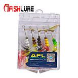 Afishlure Metal Bait Jigs Spinner Baits Spoons Trolling Lure 4g/1/6 oz 65mm/2-5/8