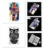 The Tiger With the Owl Pattern PU Leather Full Body Case for iPhone 4/4S