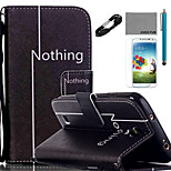 COCO FUN® Leisure Pattern PU Leather Case V8 USB Cable Flim Stylus and Stand for Samsung Galaxy S4/S4 MINI/S5/S5 MINI